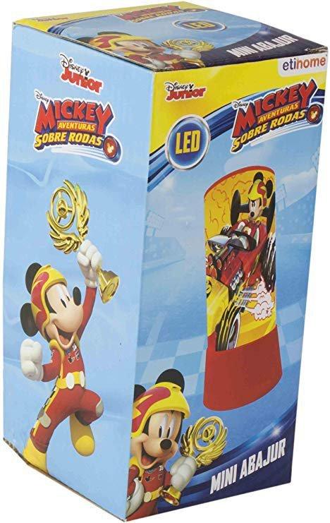 Abajur Led Mickey Aventura Sobre Rodas 18cm