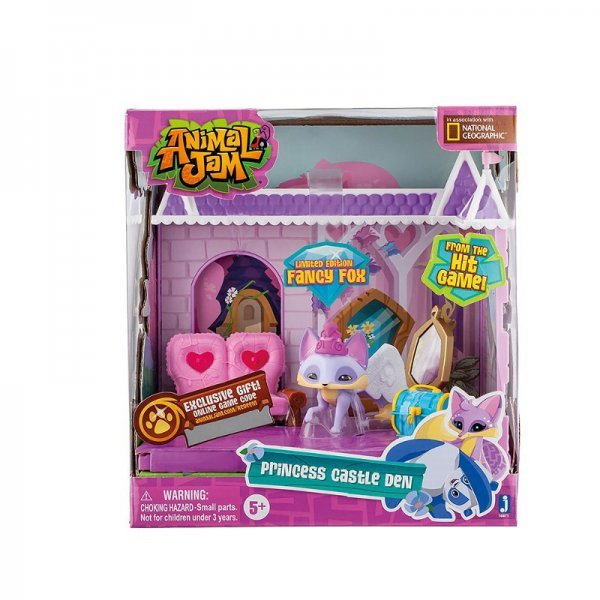 Animal Jam - Princess Castle Den Playset Médio Fun