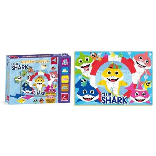 Quebra Cabeça 30 Peças Club Shark - Brincadeira De Criança 2550