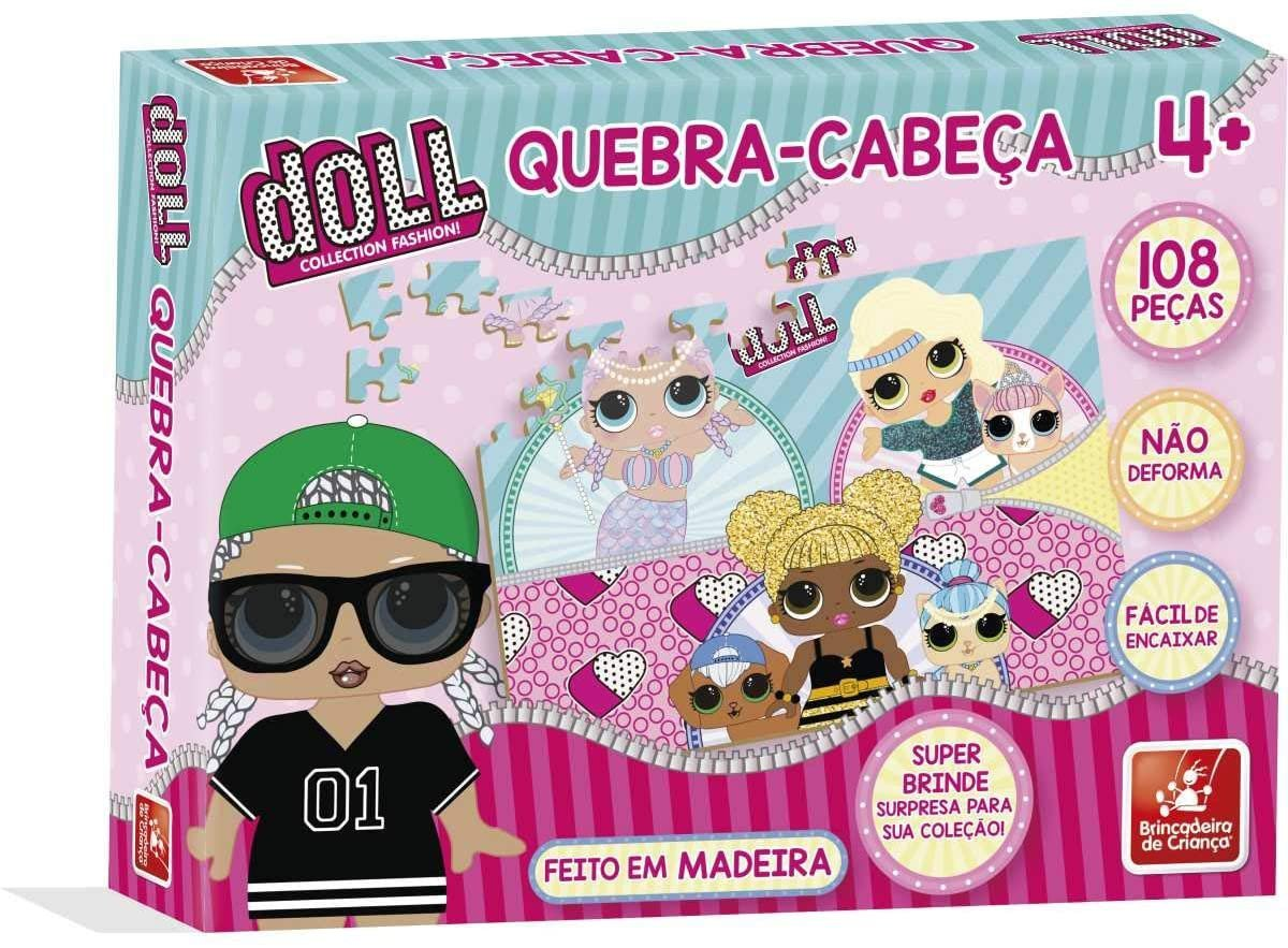 Quebra Cabeça 108 Peças Doll - Brincadeira De Criança 2697