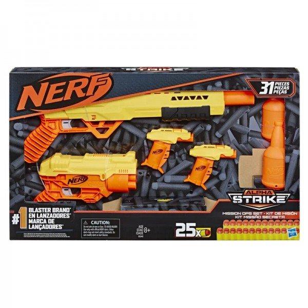 Nerf Alpha Strike Mission Ops Missão Secreta - Hasbro E8342