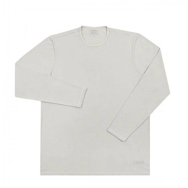 Camiseta Infantil Proteção Solar Uv 50+ Manga Longa Branca