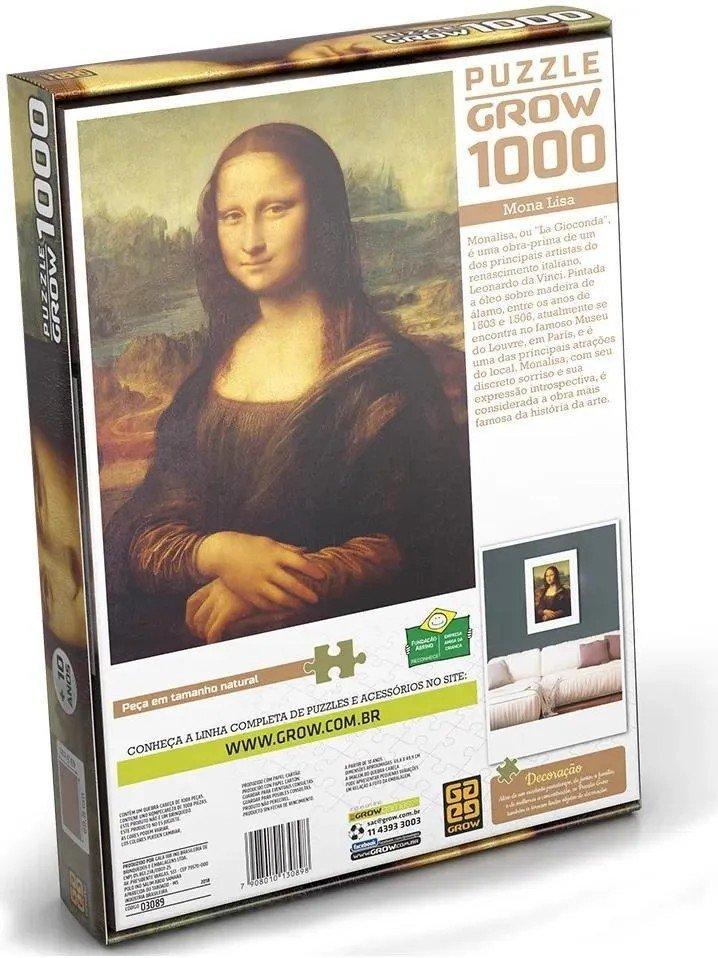 Quebra-cabeça Monalisa 1000 Peças - Grow 03089