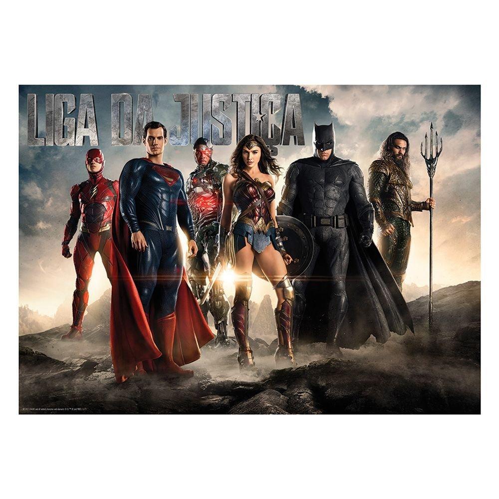 Quebra Cabeça 1000 Pcs Liga Da Justiça O Filme - Grow 03496