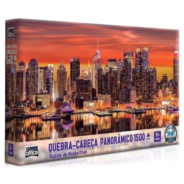 Quebra Cabeça 1500 Peças Panorâmico Skyline De Manhattan - Toyster 2642