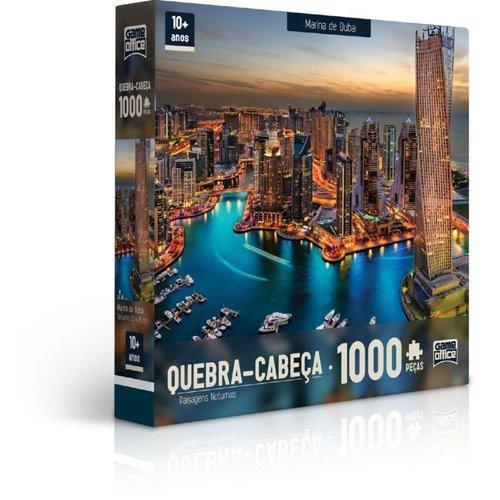 Quebra Cabeça 1000 Pcs Paisagens Noturnas Marina De Dubai - Toyster 2308