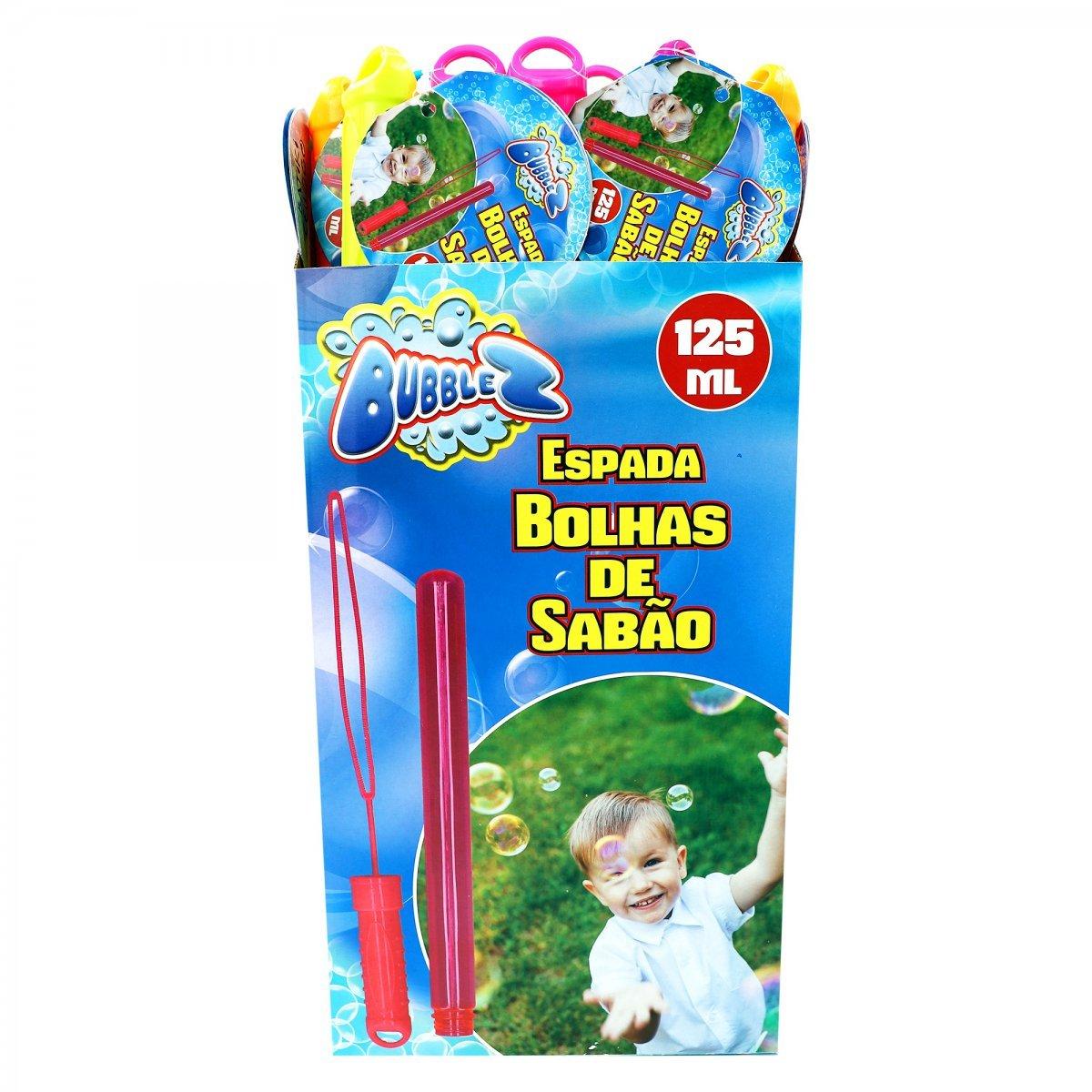 Kit 4 Espadas Bolhas De Sabão Bubblez Sortidos Batiki 79326