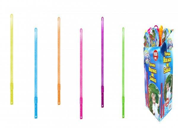 Caixa Master Display 24 Espadas De Bolhas De Sabão Da Bubblez Sortidos - Batiki 79326