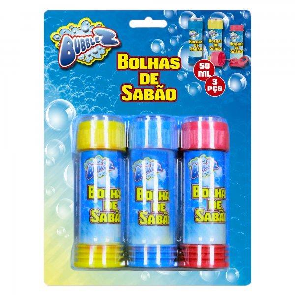 Kit Bolha De Sabão Bubblez 3 Peças