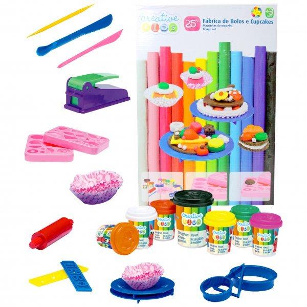 Massinha De Modelar Creative Kids Fábrica De Bolos E Cupcakes - Batiki 54798