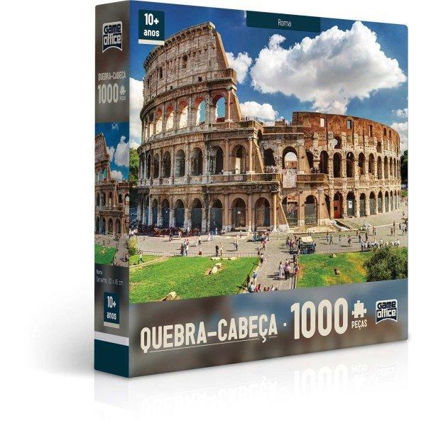 QUEBRA CABEÇA 1000 PEÇAS ROMA ITÁLIA - TOYSTER 2091