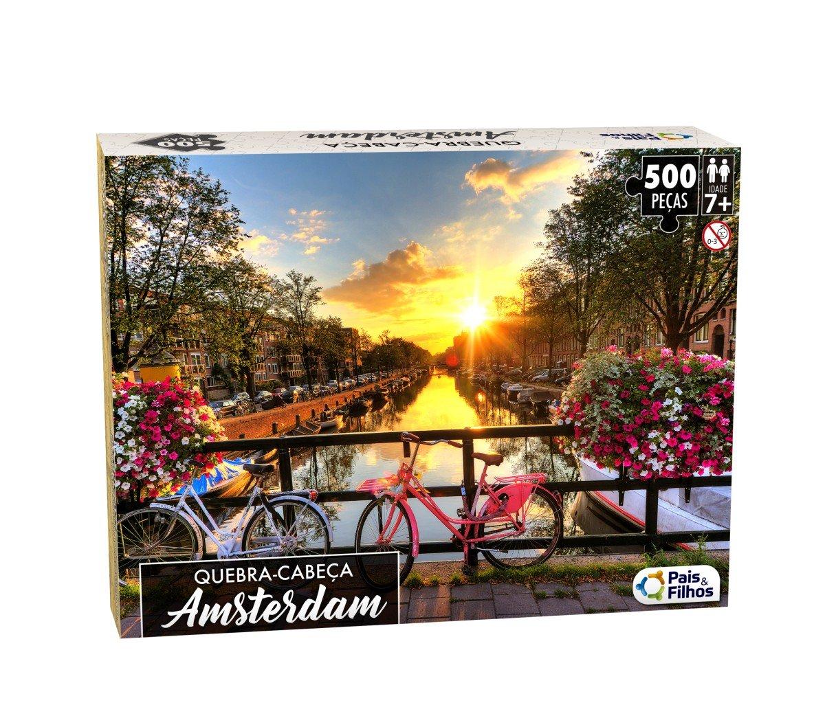 Quebra Cabeça Amsterdam 500 Peças - Pais E Filhos 0863