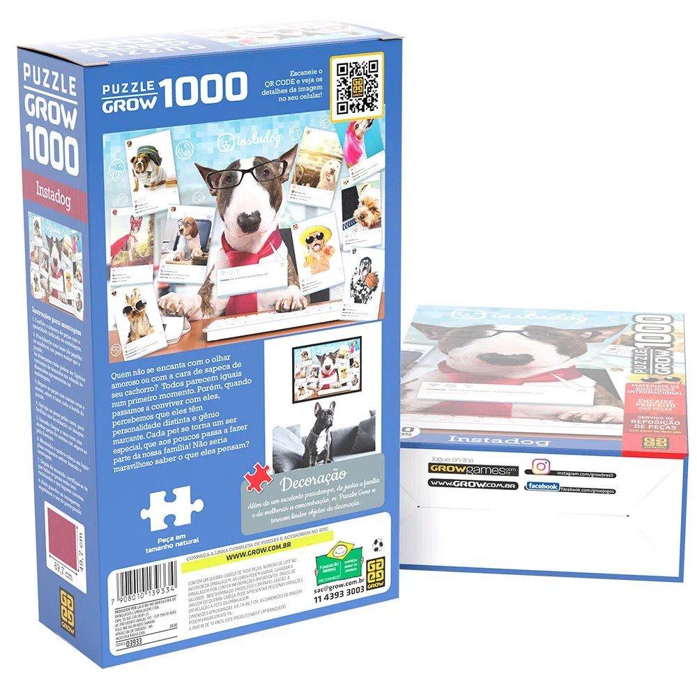 Quebra-cabeça 1000 Peças Instadog - Grow 03933