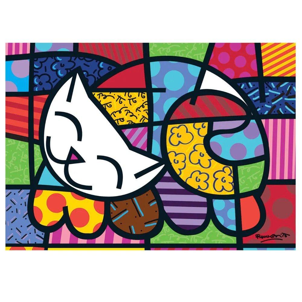 Quebra Cabeça 1000 Peças Romero Britto Cat - Grow 03264
