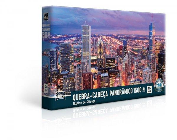 Quebra Cabeça 1500 Peças Panorâmico Skyline De Chicago - Toyster 2518