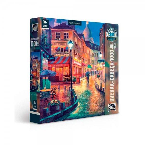 Quebra Cabeça 1000 Peças Vielas Francesas Bares Noturnos - Toyster 2517