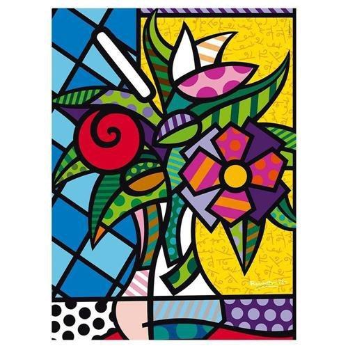 Quebra Cabeça 500 Peças Romero Britto Flower - Grow 3946