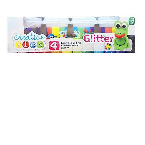 Massinha De Modelar Com Gliter Creative Kids 4 Potes - Batiki 85508