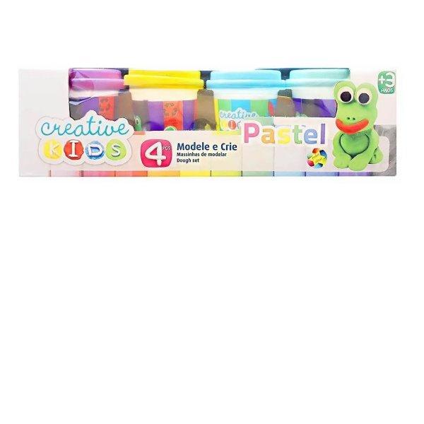 Massinha De Modelar Com Pastel Creative Kids 4 Potes - Batiki 85508