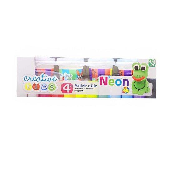 Massinha De Modelar Com Neon Creative Kids 4 Potes - Batiki 85508