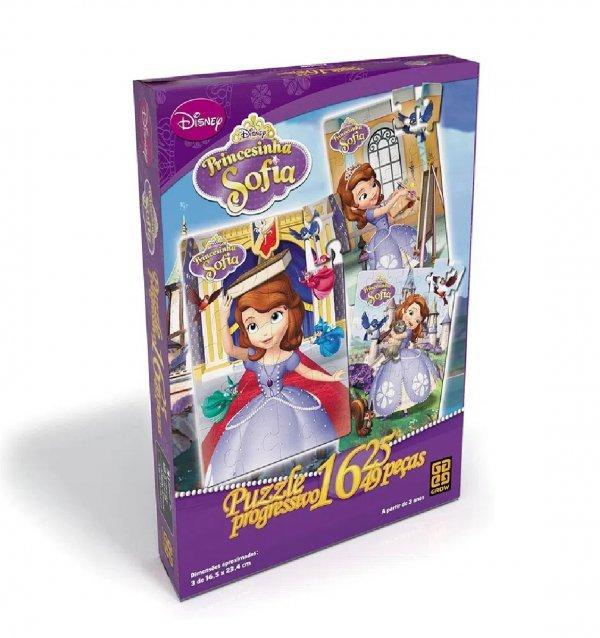 Quebra Cabeça Progressivo Princesinha Sofia - Grow 3066