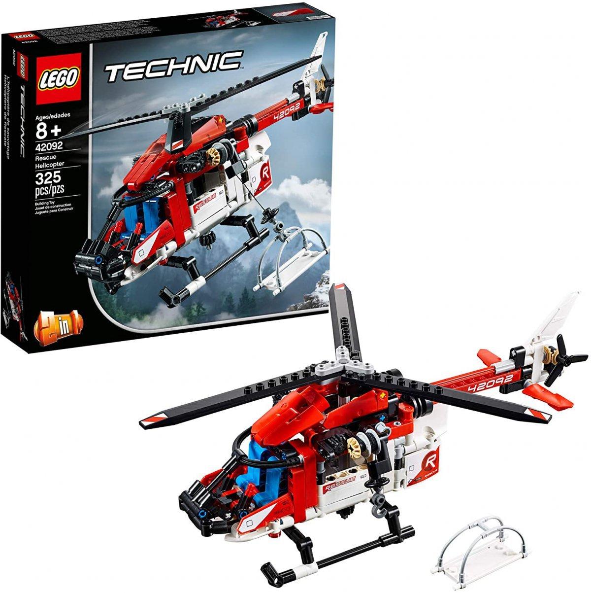 Lego Technic - Helicoptero Do Salvamento - Lego 42092