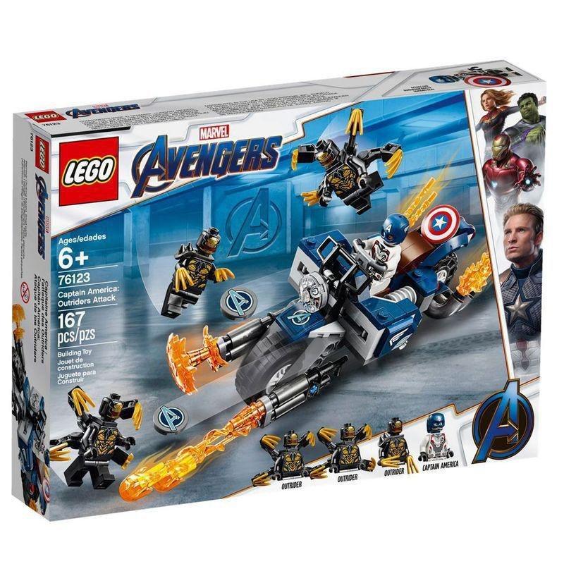 Lego Avengers - Capitão América Vs Outrider - Lego 76123