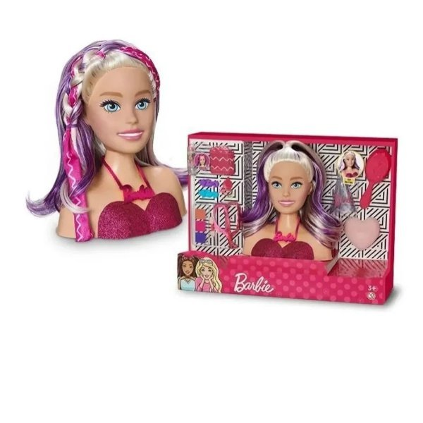 Boneca Barbie Styling Faces Maquiagem - Pupee 1265