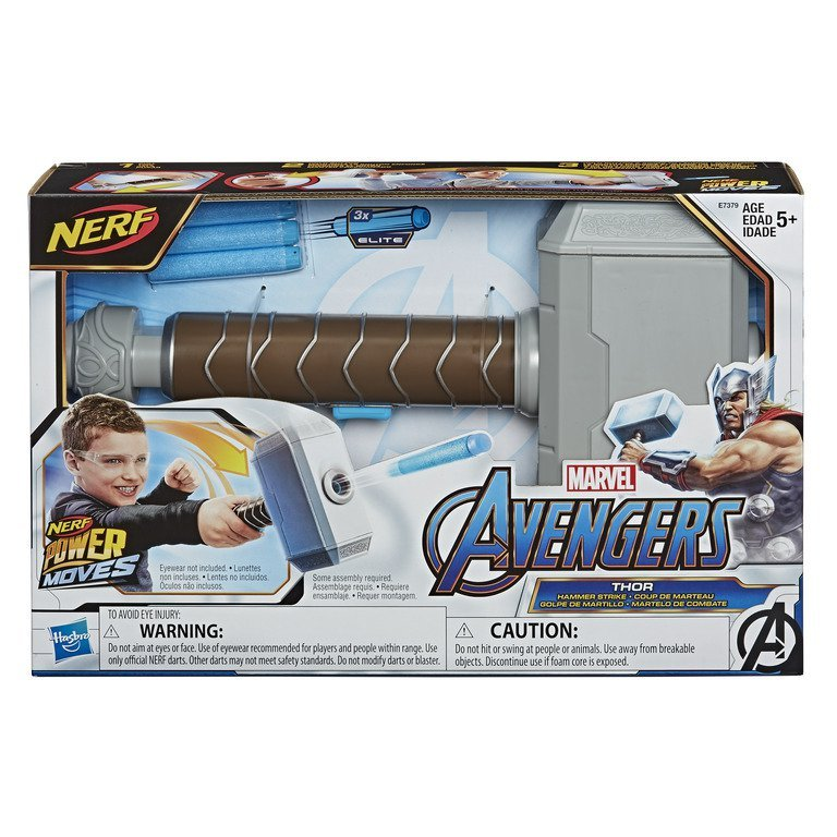 Martelo Lançador Power Moves Thor Marvel - Hasbro E7379