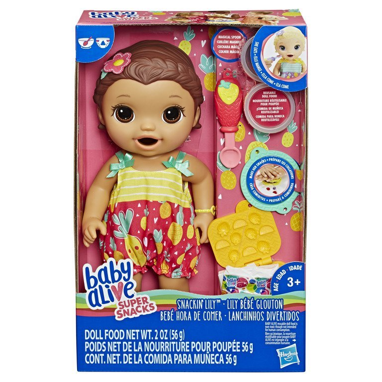 Boneca Baby Alive Lanchinhos Divertidos Morena- Hasbro E5842