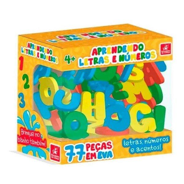 Brinquedo Aprendendo Letras E Numeros Em E.v.a