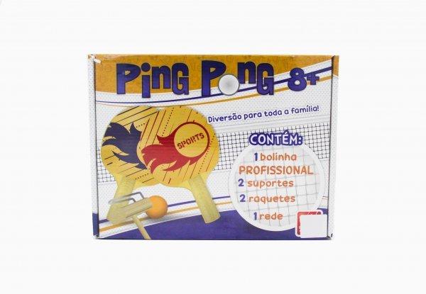 Kit Ping Pong - Tênis De Mesa Completo Em Madeira - Brincadeira De Criança 3151