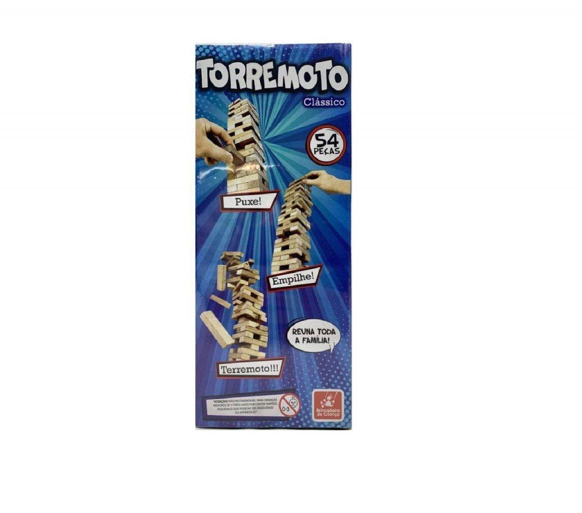 Jogo Torremoto Classico 54 Peças - Brincadeira De Criança 5193