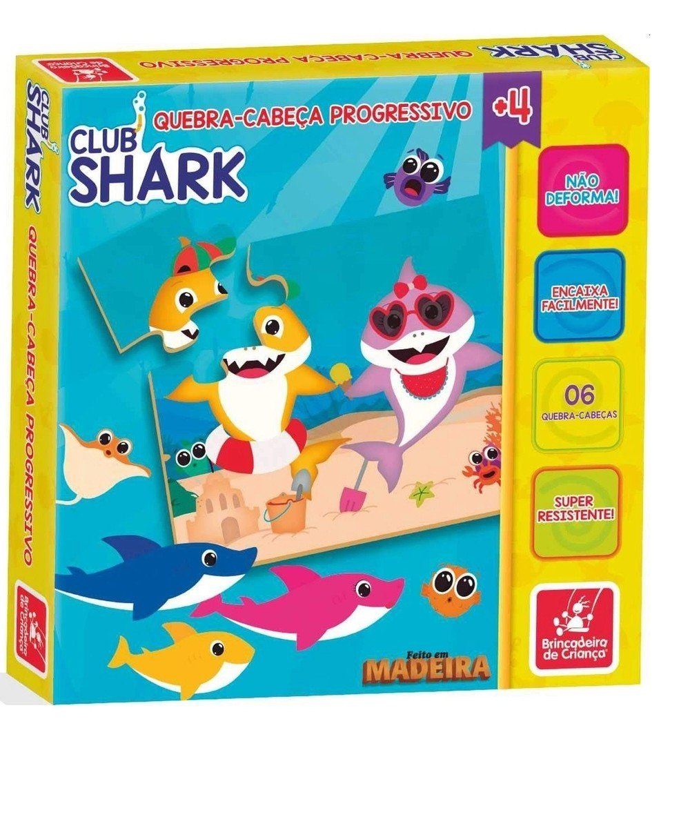 Jogo Cadê A Mamãe Club Shark - Brincadeira De Criança 2314