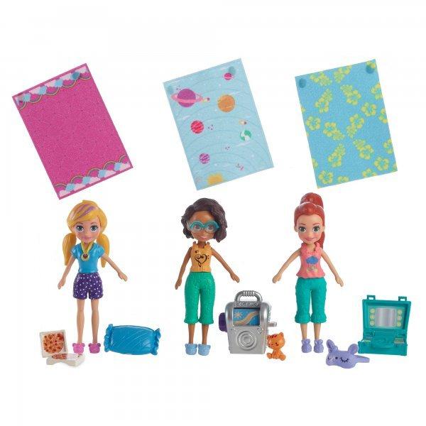 Boneca Polly Pocket Festa Do Pijama - Mattel Gmf82
