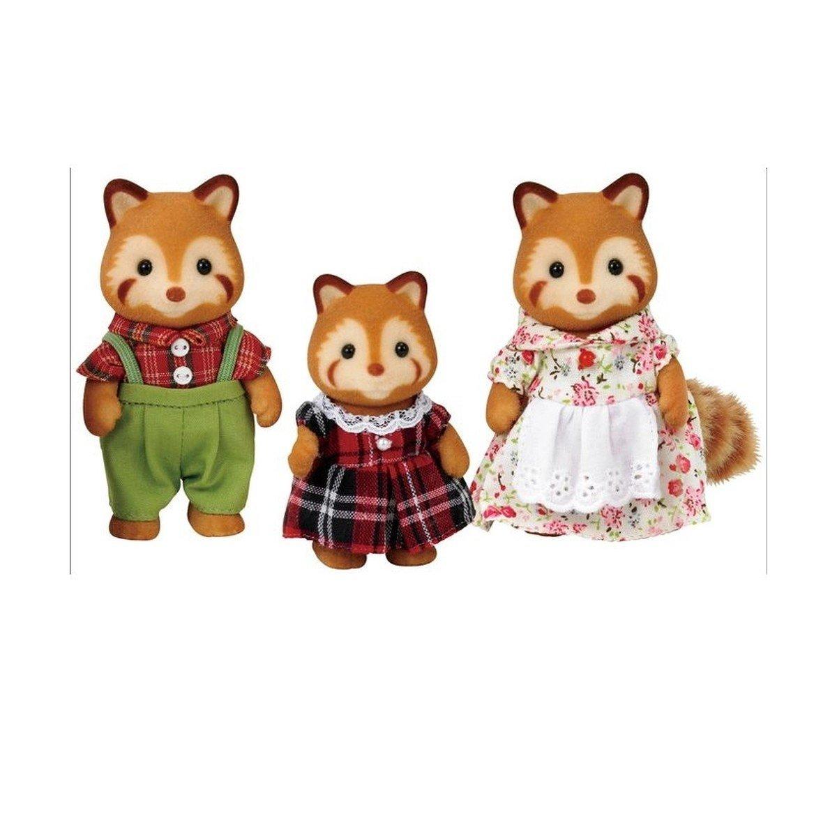 Sylvanian Families Família Dos Pandas Vermelhos Noz - Epoch 5215