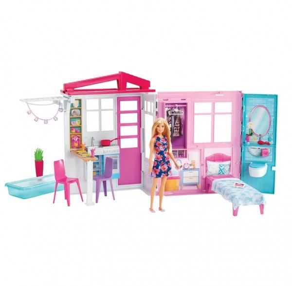 Playset E Boneca Barbie Casa Glamour Da Barbie - Mattel