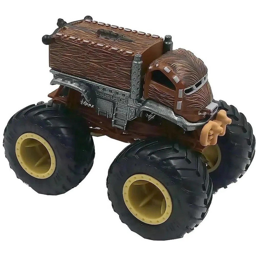 Hot Wheels Conjunto Monster Trucks Darth Vader E Chewbacca - Mattel Gbt67