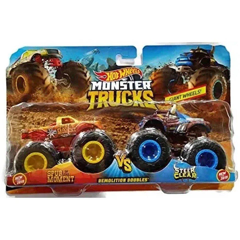 Hot Wheels Conjunto Monster Trucks Spur Of The Moment E Steer Clear - Mattel Gbt70