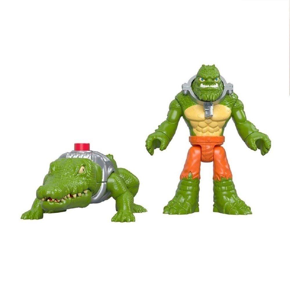 Boneco Imaginext K.croc E Crocodilo - Mattel Gbl89