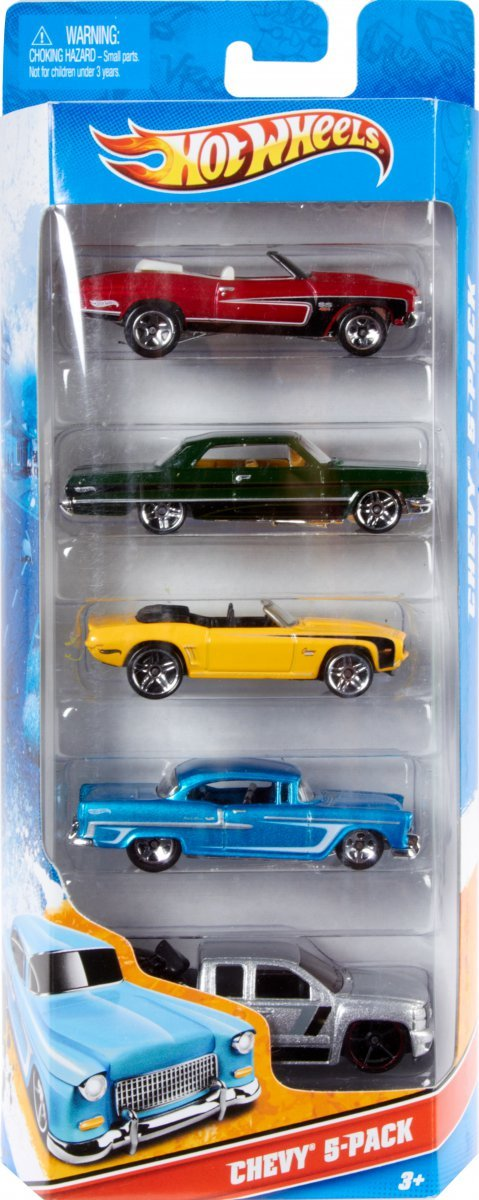 Kit 5 Carrinhos Básicos Sortidos Hot Wheels - Mattel 1806