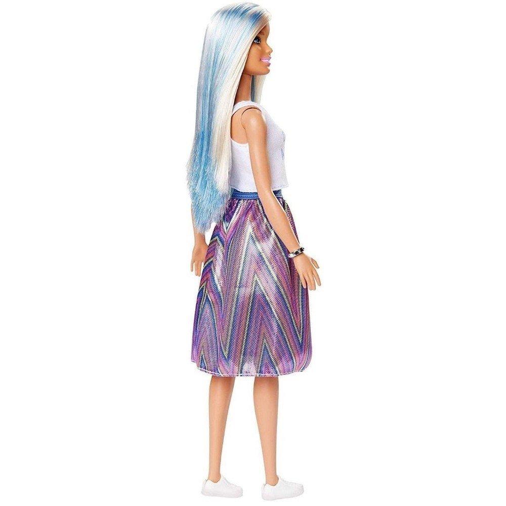 Boneca Barbie Fashionista Cabelo Azul Regata Branca 120 - Mattel Fxl53