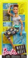 Boneca Barbie Feita Para Mexer Morena - Mattel Ftg82