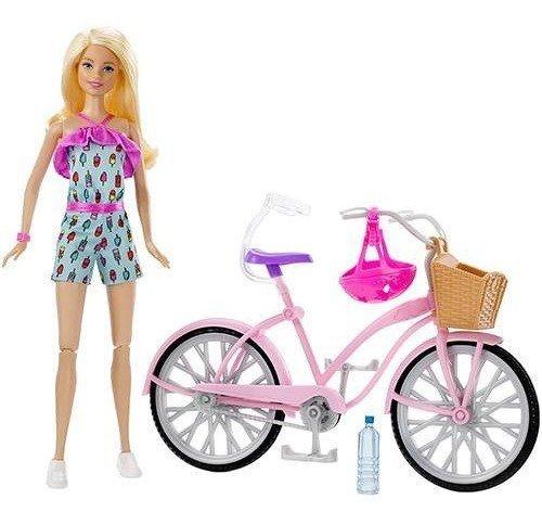 Boneca Barbie E Bicicleta - Mattel Ftv96