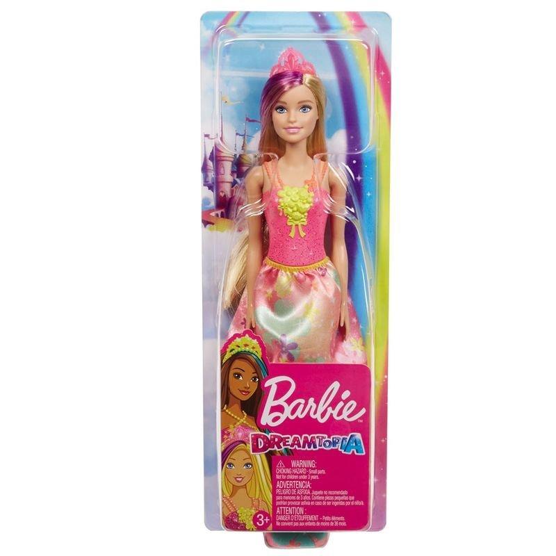 Boneca Barbie Dreamtopia Princesa Loira Vestido Flores - Mattel Gjk13