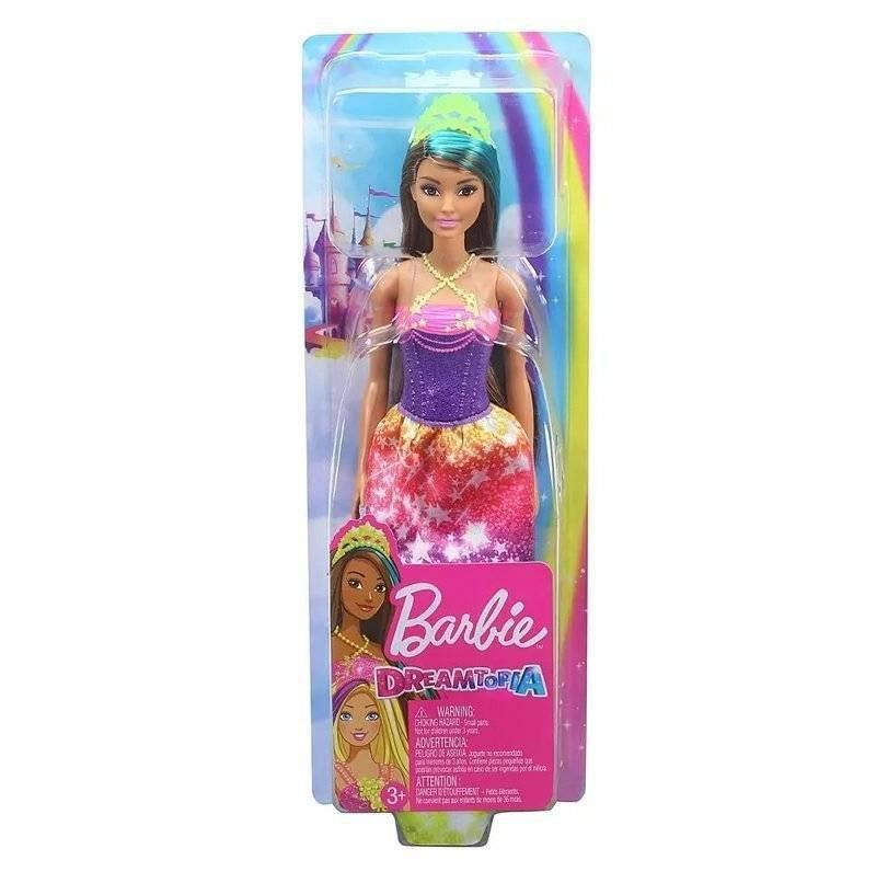 Boneca Barbie Dreamtopia Princesa Morena Vestido Estrelas - Mattel Gjk14