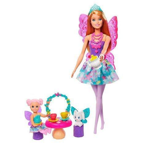 Boneca Barbie Dreamtopia Dia De Pets Festa Do Chá - Mattel Gjk50