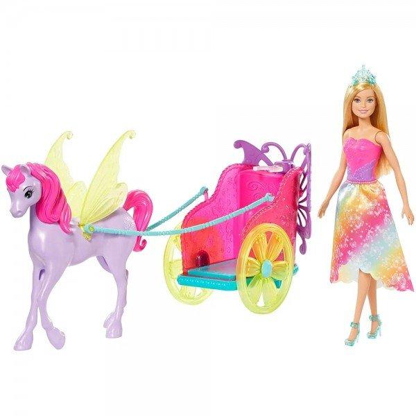 Boneca Barbie Dreamtopia Princesa Com Carruagem-mattel Gjk53