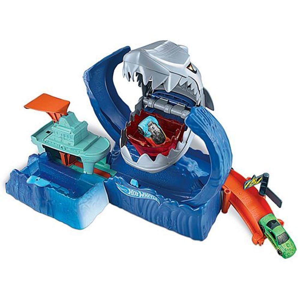 Hot Wheels City Pista Robô Tubarão Com Lançador-mattel Gjl12