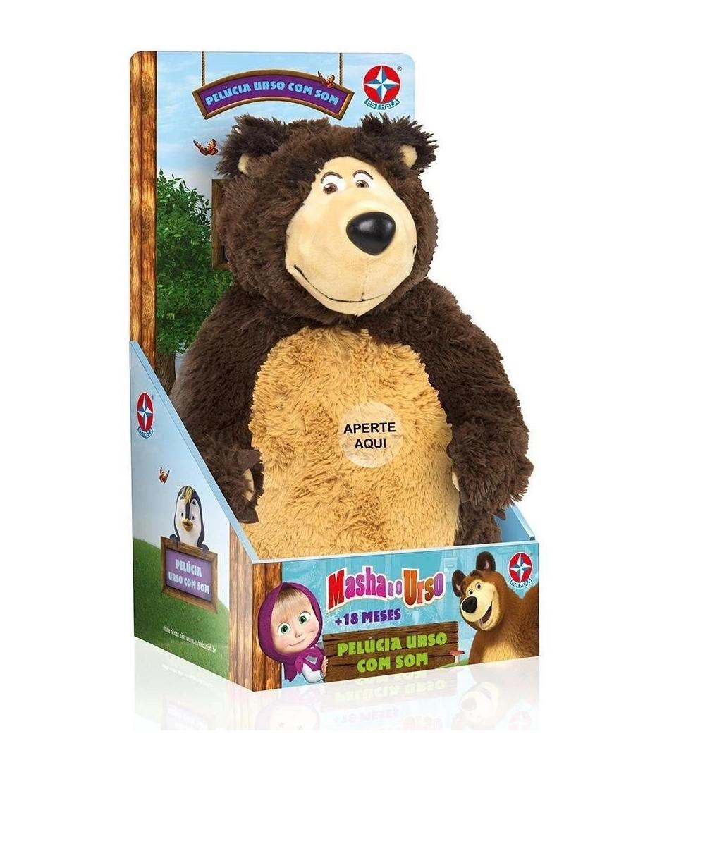Pelúcia Urso Com Som Masha E O Urso - Estrela 5800022